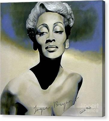 Joyce Bryant  Canvas Print by Chelle Brantley