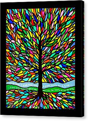 Joyce Kilmer's Tree Canvas Print