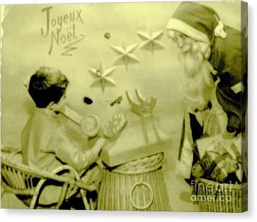Joyeux Noel - Merry Christmas - Ile De La Reunion - Indian Ocean Canvas Print by Francoise Leandre