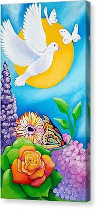 Joyful Garden #1 Right Panel Canvas Print