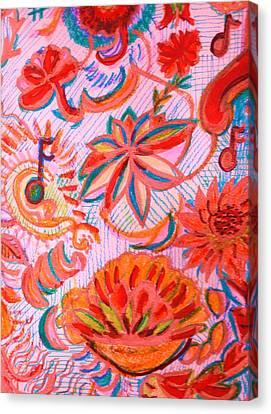 Joyful Joyful Canvas Print by Anne-Elizabeth Whiteway