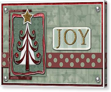 Joyful Tree Card Canvas Print by Arline Wagner