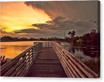 Jpp Sunset Canvas Print by Don Durfee