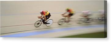 J.puddifoot 845-6x17, Racing Cyclists Canvas Print by Jason Puddifoot