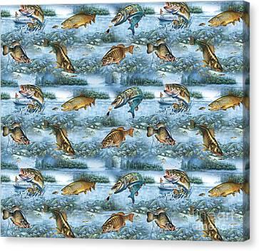 Jq Lake Fish Bedding Pillow Canvas Print