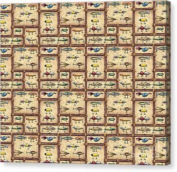Jqw Fish Sticke Bedding Canvas Print by Jon Q Wright