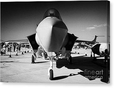 Jsf Joint Strike Fighter X-35 Lockheed Martin Mock Up On Static Display Riat  Canvas Print by Joe Fox