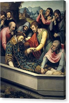 Juanes, Juan De 1523-1579. The Burial Canvas Print