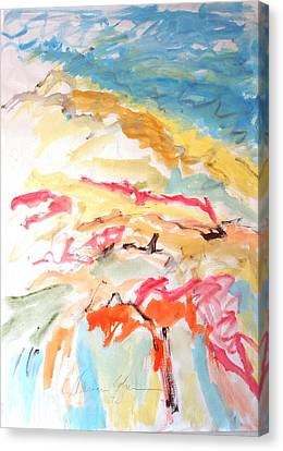 Canvas Print featuring the painting Jubilation by Esther Newman-Cohen