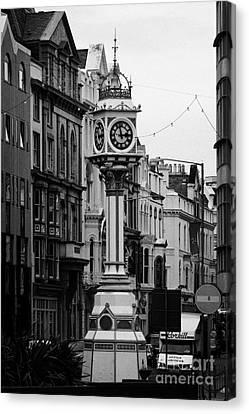 Jubilee Clock For Queen Victorias Golden Jubilee Douglas Isle Of Man Canvas Print by Joe Fox