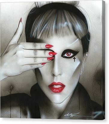 Lady Gaga - ' Judas Iscariot ' Canvas Print by Christian Chapman Art