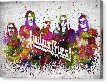 Judas Priest In Color Canvas Print