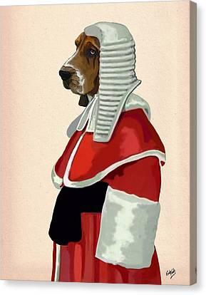 Judge Dog Portrait Canvas Print by Kelly McLaughlan