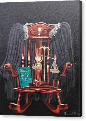 Judge Judys Justice Canvas Print by Susan Roberts