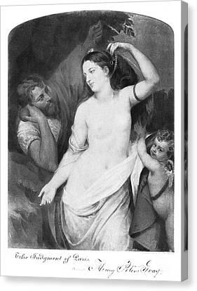 Judgement Of Paris Canvas Print by Granger