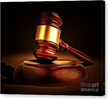 Kitschy Canvas Print - Judges Gavel 20150225 by Wingsdomain Art and Photography