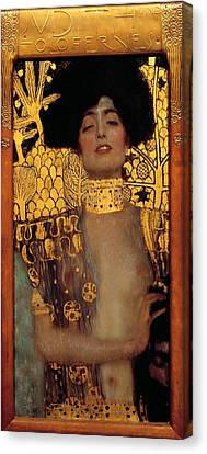 Judith And The Head Of Holofernes Canvas Print by Gustav Klimt