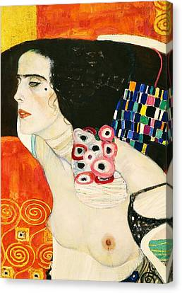 Judith II Canvas Print by Gustav Klimt