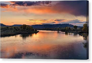 Judith Landing Sunset Canvas Print by Leland D Howard