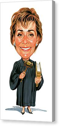 Judith Sheindlin As Judge Judy Canvas Print by Art