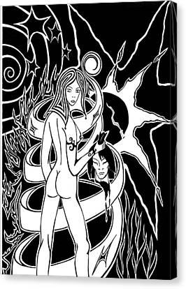 Judith Canvas Print by Yanka
