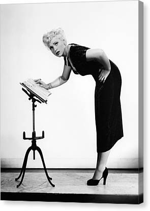 Yesterday Canvas Print - Judy Holliday In Born Yesterday  by Silver Screen