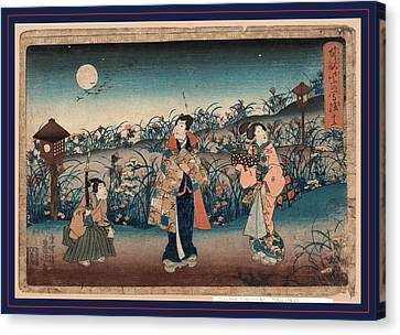 Jugo, Number 15. Between 1848 And 1854 Canvas Print by Utagawa, Toyokuni (1769-1825), Japanese
