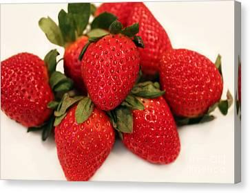 Juicy Strawberries Canvas Print
