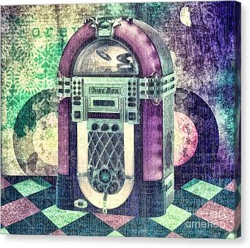 Sound Canvas Print - Juke Box by Mo T