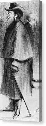 Jules Guesde Canvas Print by Alphonse Leon Noel