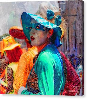 Julia At The Parade Canvas Print by John  Kolenberg