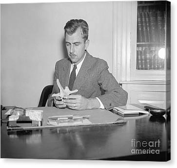 Julian Steward, Us Anthropologist Canvas Print by Library Of Congress