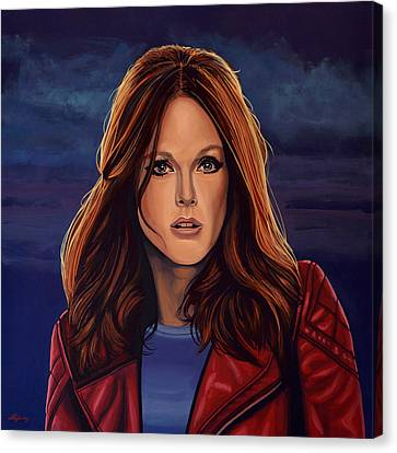 Change Canvas Print - Julianne Moore by Paul Meijering
