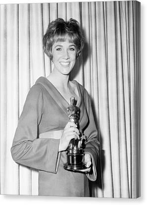 Julie Andrews, With Her Best Actress Canvas Print by Everett