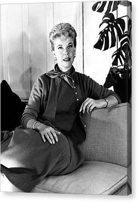 1950s Movies Canvas Print - Julie, Doris Day, Relaxing by Everett