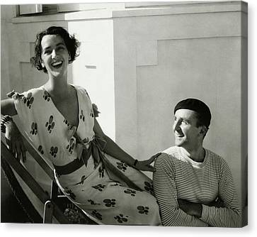 Juliette Crosby Hornblow And Arthur Hornblow Canvas Print