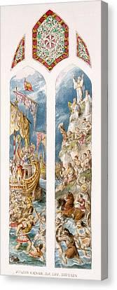 Briton Canvas Print - Julius Caesar Arrives On The Shores by William Bell & Boyd, Alice Scott
