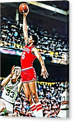 Julius Erving Canvas Print - Julius Erving by Florian Rodarte