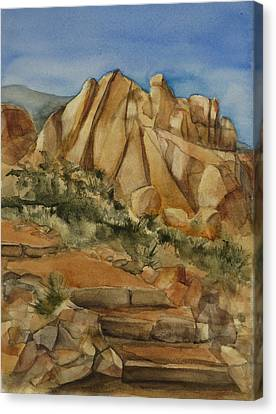 Canvas Print - Jumbo Rocks At Joshua Tree by Lynne Bolwell