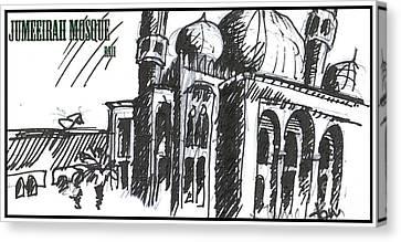 Jumeirah Majid Canvas Print by Razi P