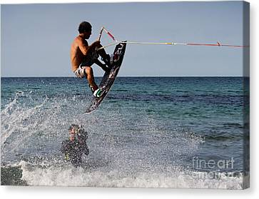 Jump Canvas Print by Francesco Zappala