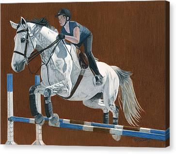 Jump Canvas Print by Patricia Barmatz