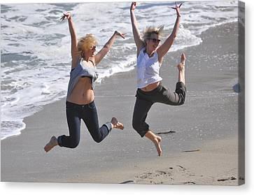 Jumpers At La Jolla Cove Canvas Print