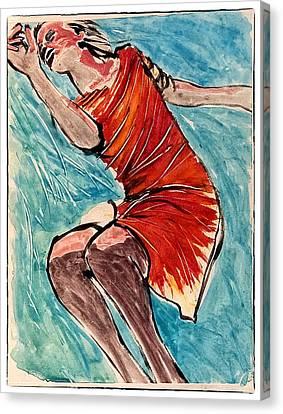 Floating Girl Canvas Print - Jumping Girl by Patrick Garner