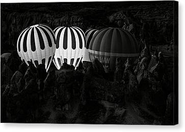 Hot Air Canvas Print - Jumping The Gun by Mike Kreiten