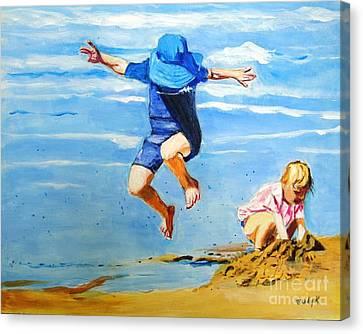 Jump'n Jack And Jill Canvas Print by Judy Kay