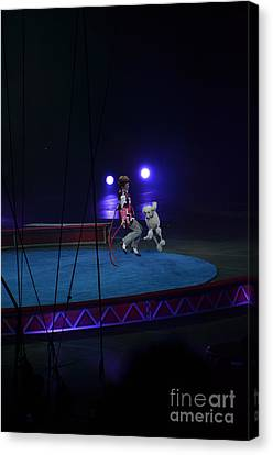 Canvas Print featuring the photograph Jumprope With Fido by Robert Meanor
