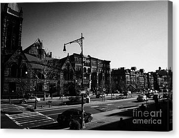 Manhatan Canvas Print - junction of west 122nd street and Malcolm X boulevard Lennox Avenue Harlem new york city by Joe Fox