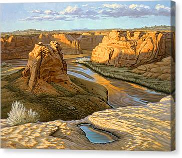 Junction Overlook - Canyon Dechelly Canvas Print by Paul Krapf