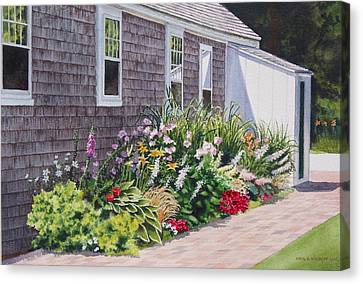 Canvas Print featuring the painting June Burst by Karol Wyckoff